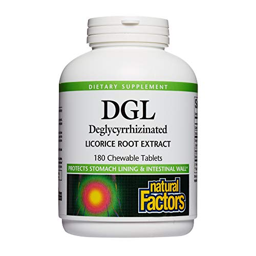 Natural Factors, DGL Licorice Root Extract, Natural Digestive Relief, 180 Tablets