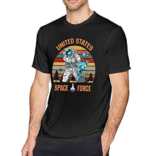 Tengyuntong UiikIIDl Camisetas y Tops Hombre Polos y Camisas US Space Force T-Shirt USSF Classic Logo Men's T-Shirt