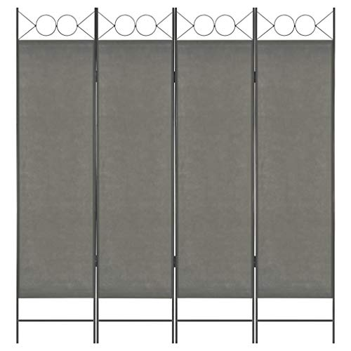 1x Bianco | no. 401660 disponibile in diversi colori e quantit/à TecTake Divisorio separ/è paravento 4 pannelli separe paravento e ferro laccato 180x160cm