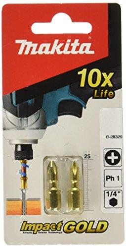 MAKITA B-28329 - Puntas de atornillar impact gold torsion philips ph1x25mm - BLister 2 ud