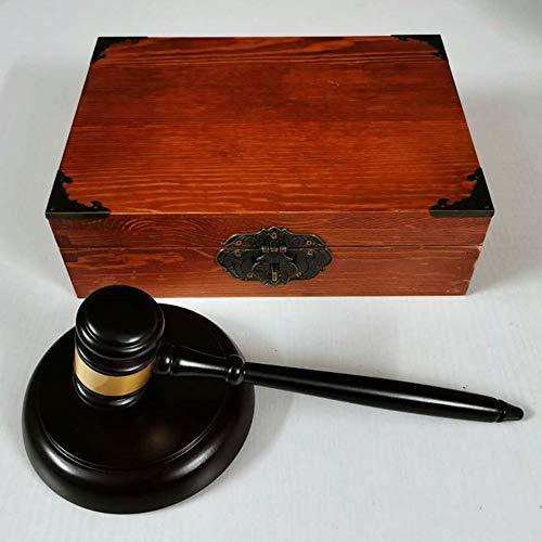 Maniny Richterhammer Holz Richterhammer Auktion Hammer Auktionshammer mit Sound-Block Fuer Rechtsanwalt Richter Auktion Handarbeit Bastelgeschenke Spielzeug