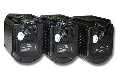 vhbw 3x batería Ni-MH 3000mAh (24V) para herramienta Würth ABH 20 Würth...