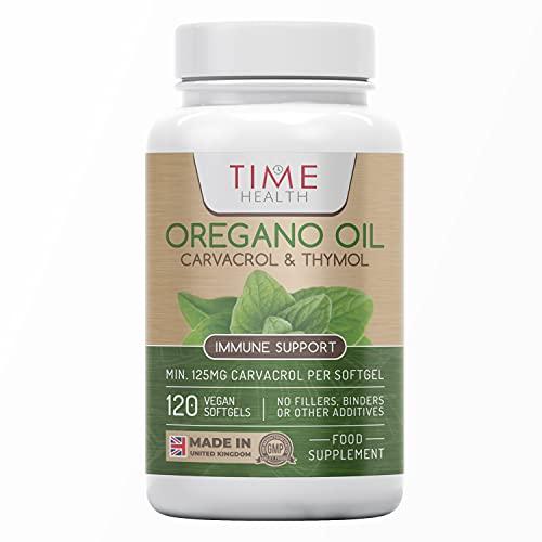 Oregano Oil - 120 Softgels - Vegan & Carrageenan-Free - 125mg Carvacrol per...