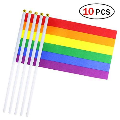 10pcs drapeaux de main 14 * 21 cm drapeau Petite Flags Décoration Club Bar Idéal pour Sports scolaires jeux