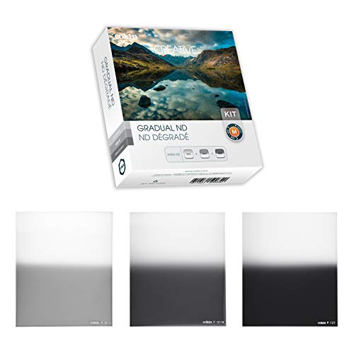 Cokin Square Filter Gradual ND Creative Kit - Includes Gnd 1-Stop (121L), Gnd 2-Stop (121M), Gnd 3-Stop (121) for M (P) Series Holder - 84mm X 100mm