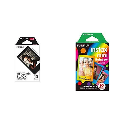 Instax Mini BlackPelícula instantánea + Mini RainbowPelícula instantánea