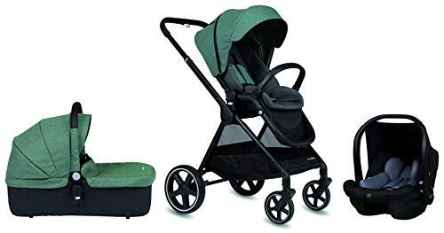 Cochecito de paseo Casualplay Optim, con capazo y grupo 0+ i-size, color green