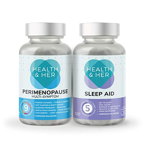 Health & Her Perimenopause Tablets for Women - Day & Night Bundle - Supplements for perimenopause...