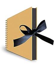 SKEIDO DIY Photo Album Craft Handwork Scrapbook Record Gifts for Anniversary Wedding Birthday Valentines Day Travel Graduation with 80 Pages