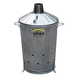 90L 90 Litre CENTRE DRAFT Incinerator Garden Burn Leaves Paper Wood Heavy Duty