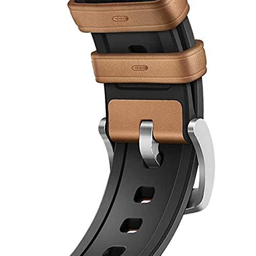 DLCYMY De Silicona Correa de Cuero for el Reloj de la Banda de Apple de 40 mm de IWatch Band 38mm 42mm 44mm Correa de Reloj Pulsera for la Serie de Apple Seguir 5 4 3 2 1