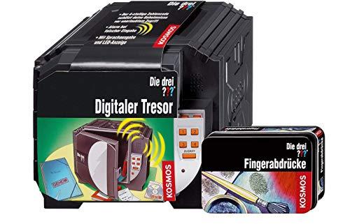 Franckh -Kosmos Die DREI ??? Digitaler Tresor mit 4 stelligem Code & Alarmton + Fingerabdrücke Detektiv Set