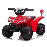 Quad ATV - Niños Niños Juguete para Montar 12v Eléctrico/Batería Paseo en cuatriciclo utilitario Recomendado para niños Mayores de 2 años (Color : Red, Size : 69 * 44 * 41.5cm)