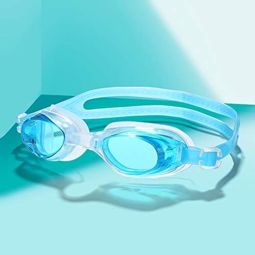 GERUOLA Gafas De Natación,Sin Fugas Anti-UV Impermeables Antivaho HD,con Tapones para Los Oídos,Cómodo Anillo para Lentes,Correa De Espejo Ajustable,para Hombres Adultos,Mujeres,Lake Blue