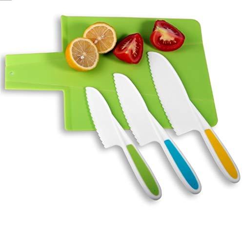 Cuchillos Vegetales de cocina del cuchillo del cocinero saludable de frutas de plástico cuchillo Santoku serrado de cocina de Cutter rebanar niños cocina