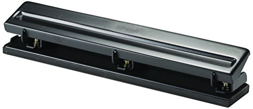 Officemate Standard 3 Hole Punch with 8 Sheet Capacity, Black (90099)