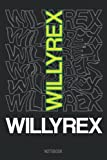 Willyrex Merch Kids Composition Notebook: TheWillyrex nice green text Willyrex with wavy background Wide Ruled Composition Notebook 6' x 9' (110 Pages)