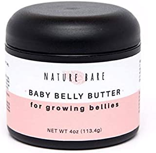 Pregnancy Belly Stretch-Mark Butter Lotion: Organic Shea Mango Aloe Olive Avocado Jojoba Coconut Natural Hypoallergenic Skin Care Cream Treatment | Healing Relieving Hydrating | 4oz by NATURE BARE
