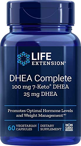 Life Extension Dhea Complete (7-Keto Dhea 100 mg and Dhea 25 mg), 60 Vegetarian Capsules