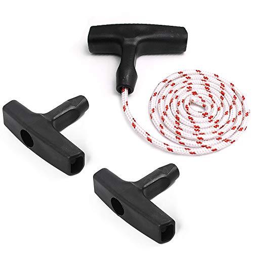 DELSEN Mango de Arranque con Retroceso Cuerda de Arranque Cortacesped Cable Tracción para Cortacésped para Cortadora Césped Motosierra