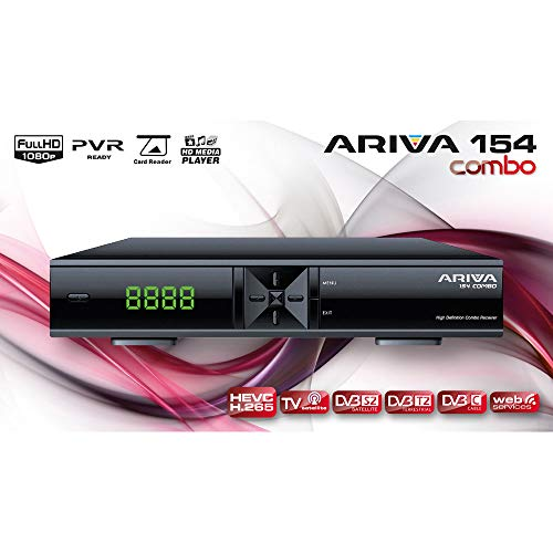 ARIVA 154 Combo, H.265, DVB S2, DVB T2, DVB C, HD Media Player, WEB Services