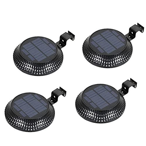 XHBH Luces de Seguridad solares portátiles 4 PCS Luz de inundación LED Lámparas de Pared de jardín al Aire Libre con Sensor Reutilizable 4.24 (Emitting Color : 6000k Cold White)