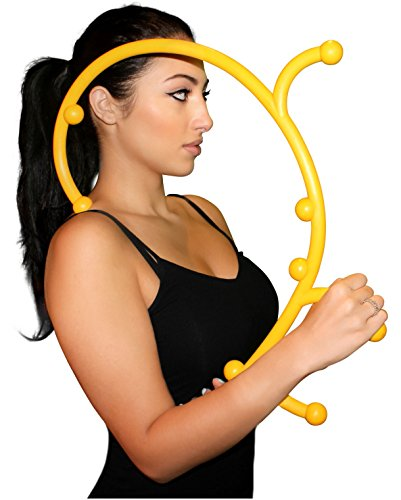 Nayoya Back Hook Massager - Patented Full Body Self Massage Tool for Myofascial Release and Triggerpoint Therapy