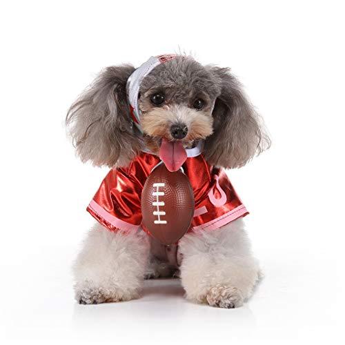 Smniao Haustier Kleidung Winter Sweatshirt Cheerleader Anzug Pullover Chihuahua Katze Kostüm Hunde Kleidung für Kleine Hunde (XL, Rot)