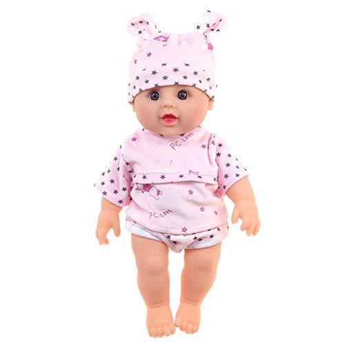 QqHAO 30 cm Black Doll, afrikanische Puppe, Vinyl-Puppe mit dem lockigen Haare, Glatze Dummy Baby Doll,11
