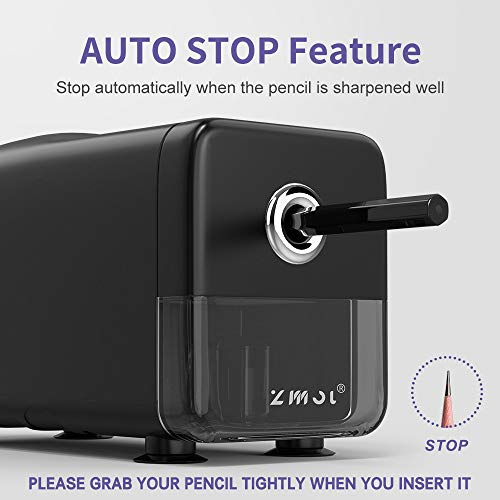 Electric Pencil Sharpener Heavy Duty,Pencil Sharpener for Classroom,Commercial pencil sharpener for 6-8mm No.2/Colored Pencils, Best Pencil Sharpener,Auto-Stop,Super Fast&Sharp(Pencil Sharpener Only) Photo #2