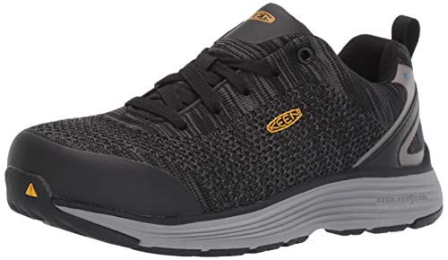 KEEN Utility Women's Sparta Low Alloy Toe ESD Work Shoe, Black/Grey Flannel, 8 Medium US