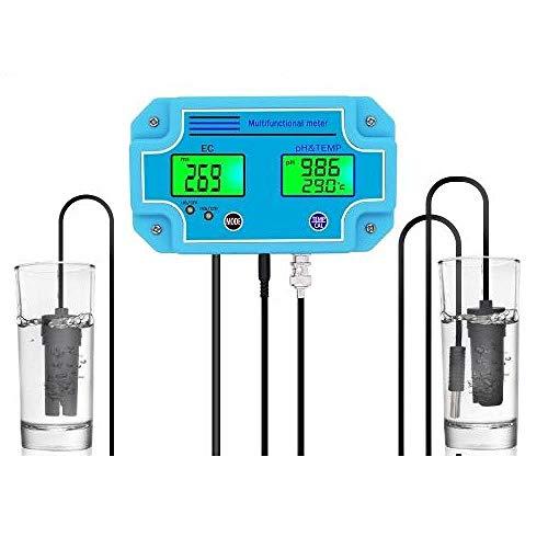 YWJT Probador de medidor de Temperatura PH EC Digital 3 en 1 PH-2981 Equipo de monitoreo de Alta precisión Herramienta Medidor de Agua de Acuario-EU_Plug