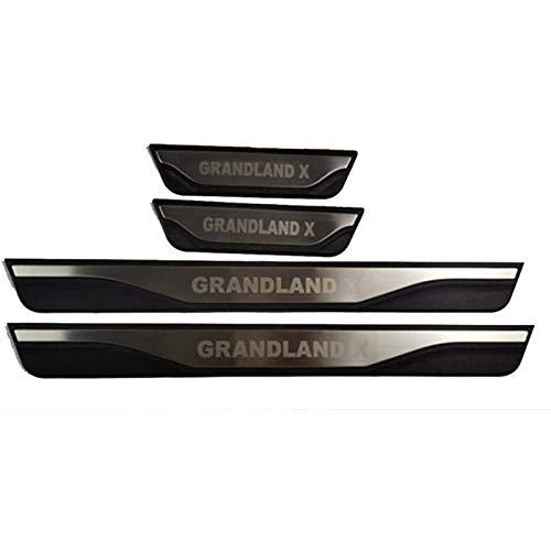 HCJGZ 4pcs de umbral de Puertas de Coche umbrales de umbral de umbral adecuados para Opel Grandland X, Faldas de la Puerta Pedal Proteger Straps Schleer Protection Pegatinas