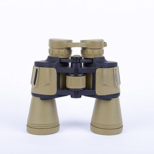 WYJS 20X50 Binoculares Telescopio Portátil de Peso Ligero Telescopio Exterior de Viaje Hd,Color del desierto