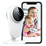 PC420 Baby Monitor, 1080P Pet 2.4G Wi-Fi Cameras for Home Security Indoor Camera with Night Vision, Work with Alexa & Google Home, Sound & Motion Detection for Home/Office/Baby/Nanny/Pet
