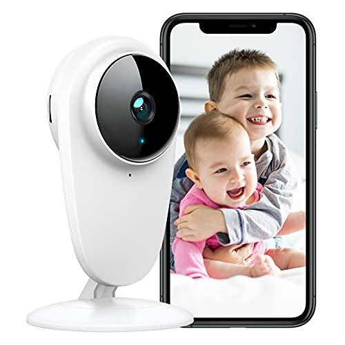 Alexa Telecamera WiFi di Sorveglianza Interno, 1080P Baby Monitor Videocamera per Bambini/Animali/Anziani Domestici, Visione Notturna, Rilevamento del Movimento e Audio Bidirezionale