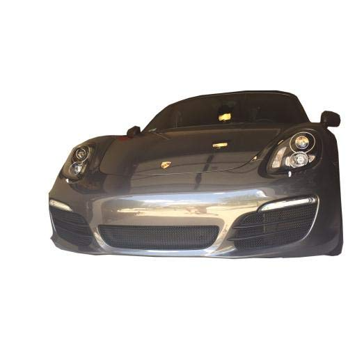 Zunsport Compatible with Porsche Boxster 981 - Front Grill Set (Without Parking Sensors) - Black Finish (2012-2016)