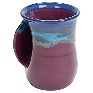 Clay in Motion Handwarmer Mug - Purple Passion - Left Handed