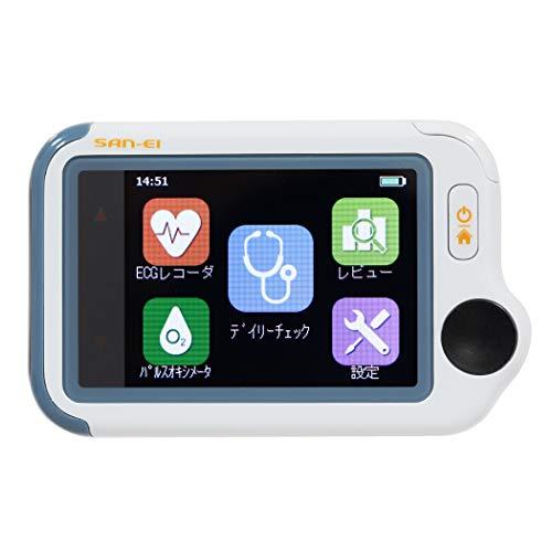 チェックミーライト アドバンスモデル 携帯型心電計 パルスオキシメータ デイリーチェック(ECG SpO2)《ブルートゥース搭載》