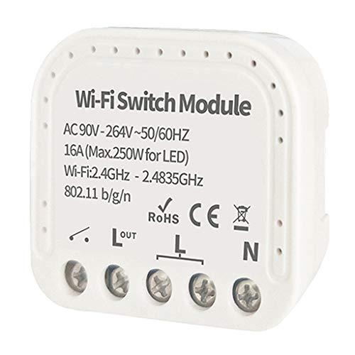 MagiDeal Módulo de interruptor de relé WiFi Control de aplicación Dispositivo de 2 vías para compartir DIY Home - TY
