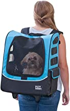 Pet Gear I-GO2 Roller Backpack, Travel Carrier, Car Seat for Cats/Dogs, Mesh Ventilation, Included Tether, Telescoping Handle, Storage Pouch