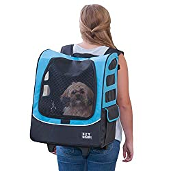 Pet backpack converts to roller style