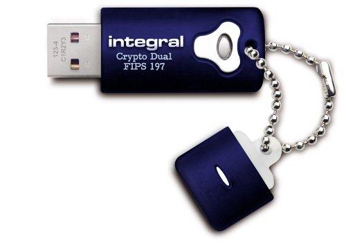 Integral Crypto Dual USB-Stick 16GB mit 256 Bit AES Verschlüsselung, FIPS 197, für Admin und User