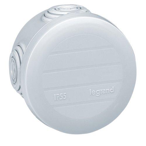 Legrand 092001 Boîte de Dérivation Ronde Plexo, Ø60mm, 40mm Hauteur, Gris