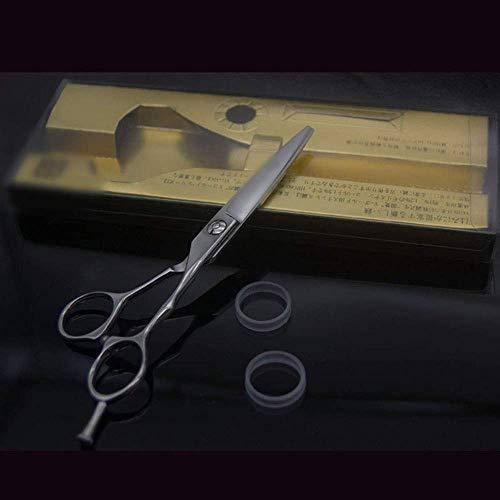 ZLININ Y-Longhair 6 Pulgadas Peluquero Profesional Tijeras de peluquería, Antideslizante Planas Tijeras Tijeras Tijeras (Color: Plata)