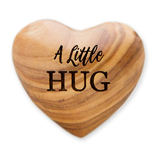 A Little Hug, Tiny Hug Token, Olive Wood Heart, Isolation Gift, Missing You Gift, Thinking of You, Lock Down, Lockdown