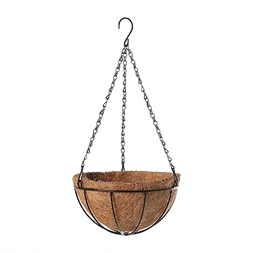 GAOYUAN Maceta, portátil de coco para el hogar maceta colgante cesta de almacenamiento para plantas flores (Khaki, 25.5 cm x 12 cm)