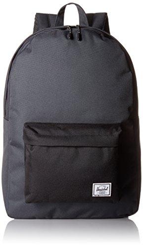 Herschel Classic Mochila Negro - Mochila para portátiles y netbooks (Negro, Monótono, Unisex, Bolsillo Frontal, Cremallera, 311,1 mm)