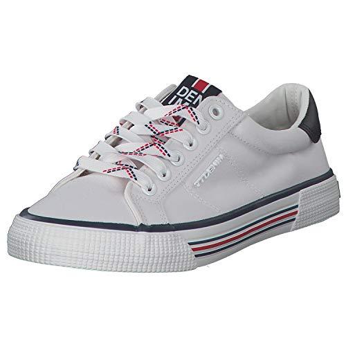 TOM TAILOR Sneakers Damen Freizeitschuh Schnürrschuh Laufschuh Moderne Sneakers Sommerschuh 8095301 Weiß (White) 40 EU