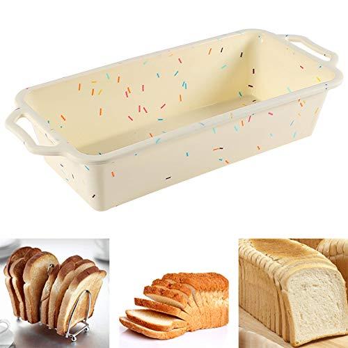 Stampi per pane e pagnotte in silicone - Stampi da forno in silicone antiaderenti Teglia con struttura in metallo, per pagnotte, pane, quiche, polpettone, torte e lasagne 31 * 13,5 * 6,5 cm
